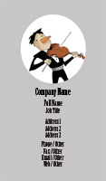 Violin Player Illustration Business Card Template
